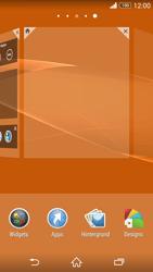 Sony Xperia Z3 Compact - Startanleitung - Installieren von Widgets und Apps auf der Startseite - Schritt 4