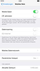 Apple iPhone 6 Plus - iOS 8 - Internet und Datenroaming - Prüfen, ob Datenkonnektivität aktiviert ist - Schritt 5