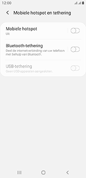 Samsung galaxy-a6-sm-a600fn-ds-android-pie - WiFi - Mobiele hotspot instellen - Stap 6