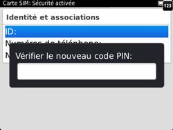 BlackBerry 9320 - Sécuriser votre mobile - Personnaliser le code PIN de votre carte SIM - Étape 11