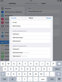 Apple The New iPad iOS 8 - E-mail - Account instellen (POP3 zonder SMTP-verificatie) - Stap 13