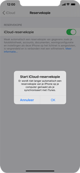 Apple iPhone XS Max - iOS 13 - toestel resetten - back-up maken met jouw account - stap 13