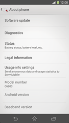 Sony Xperia Z1 - Software - Installing software updates - Step 6
