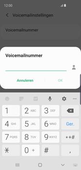 Samsung Galaxy S10e - voicemail - handmatig instellen - stap 11