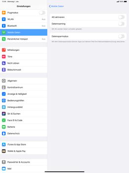 Apple iPad Pro 12.9 (2018) - ipados 13 - Netzwerk - So aktivieren Sie eine 4G-Verbindung - Schritt 5