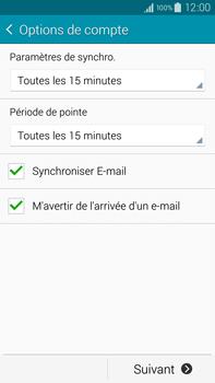 Samsung Galaxy Note 4 - E-mail - configuration manuelle - Étape 16