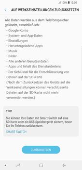 Samsung Galaxy S8 Plus - Android Oreo - Gerät - Zurücksetzen auf die Werkseinstellungen - Schritt 7