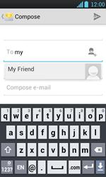 LG P700 Optimus L7 - E-mail - Sending emails - Step 6
