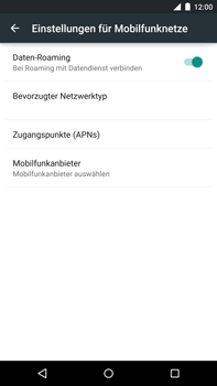 Motorola Google Nexus 6 - Ausland - Auslandskosten vermeiden - Schritt 8