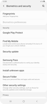 Samsung Galaxy A80 - Getting started - How to enable a SIM pin - Step 5