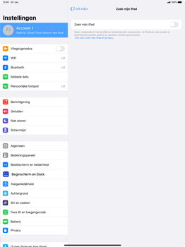 Apple ipad-pro-12-9-inch-2018-Model A1895-ipados-13 - Beveiliging en ouderlijk toezicht - Zoek mijn iPad inschakelen - Stap 9