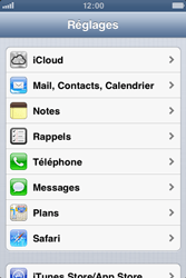 Apple iPhone 4 - Applications - Configuration du service iCloud d