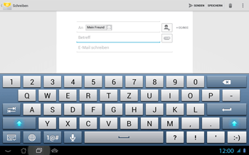 Asus Padfone 2 - E-Mail - E-Mail versenden - Schritt 8