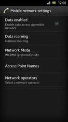 Sony Xperia U - Network - Manual network selection - Step 6