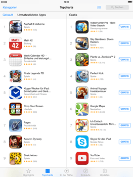Apple iPad 4 mit iOS 7 - Apps - Herunterladen - Schritt 5