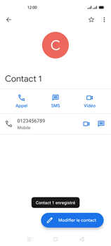 Oppo Reno 4 - Contact, Appels, SMS/MMS - Ajouter un contact - Étape 8