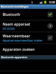 Samsung S5360 Galaxy Y - Bluetooth - koppelen met ander apparaat - Stap 8