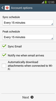 Samsung Galaxy Note III LTE - E-mail - manual configuration - Step 16