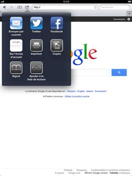 Apple iPad Retina - Internet et roaming de données - Navigation sur Internet - Étape 7