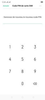 Oppo Reno 2 - Sécuriser votre mobile - Personnaliser le code PIN de votre carte SIM - Étape 12