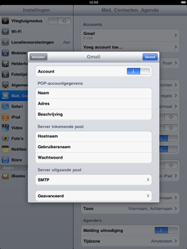 Apple iPad 2 - E-mail - handmatig instellen - Stap 10