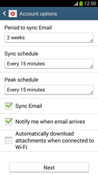 Samsung Galaxy S 4 Mini LTE - E-mail - 032b. Email wizard - Yahoo - Step 8