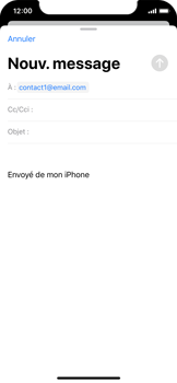 Apple iPhone XS - iOS 13 - E-mail - envoyer un e-mail - Étape 5
