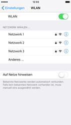 Apple iPhone 6 iOS 10 - WLAN - Manuelle Konfiguration - Schritt 5