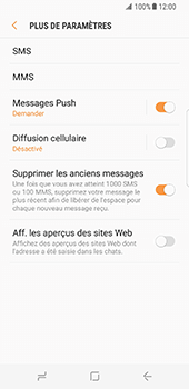 Samsung Galaxy S8 - SMS - configuration manuelle - Étape 7