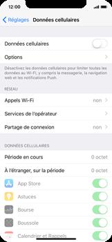 Apple iPhone X - Internet et roaming de données - Comment vérifier que la connexion des données est activée - Étape 4