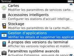 BlackBerry 9320 - Applications - Supprimer une application - Étape 5