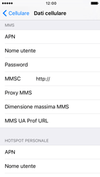 Apple iPhone 5c iOS 9 - MMS - Configurazione manuale - Fase 6