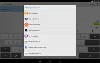 Sony Xperia Tablet Z2 LTE - MMS - Erstellen und senden - 17 / 22