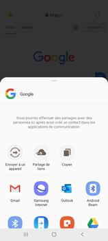 Samsung Galaxy Note 10 Lite - Internet et connexion - Naviguer sur internet - Étape 21