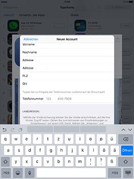 Apple iPad Mini 4 - Apps - Konto anlegen und einrichten - 30 / 35