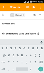 Alcatel U3 - E-mails - Envoyer un e-mail - Étape 10