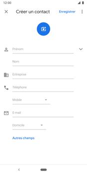 Google Pixel 3 - Contact, Appels, SMS/MMS - Ajouter un contact - Étape 6