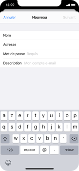 Apple iPhone X - iOS 13 - E-mail - configuration manuelle - Étape 8