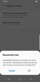 Samsung Galaxy S9 - Android Pie - Rete - Selezione manuale della rete - Fase 8
