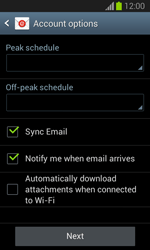 Samsung Galaxy Trend Lite - E-mail - manual configuration - Step 16