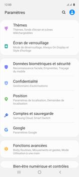 Samsung Galaxy A71 - Sécuriser votre mobile - Personnaliser le code PIN de votre carte SIM - Étape 4