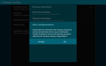 Samsung T805 Galaxy Tab S - Réseau - Sélection manuelle du réseau - Étape 7