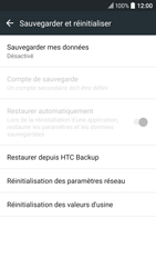 HTC 10 - Aller plus loin - Restaurer les paramètres d'usines - Étape 5