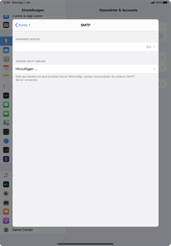 Apple iPad Pro 10.5 (1st gen) - iPadOS 13 - E-Mail - Manuelle Konfiguration - Schritt 17