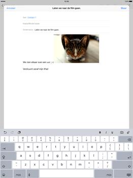 Apple iPad Pro 12.9 inch (2nd generation) - E-mail - Bericht met attachment versturen - Stap 12