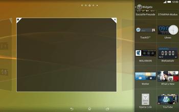 Sony Xperia Tablet Z2 LTE - Startanleitung - Installieren von Widgets und Apps auf der Startseite - Schritt 9