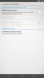 Sony Xperia Z Ultra LTE - Fehlerbehebung - Handy zurücksetzen - Schritt 7