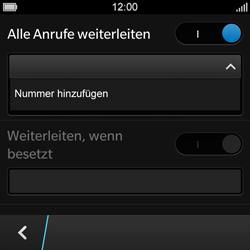 BlackBerry Q10 - Anrufe - Rufumleitungen setzen und löschen - 9 / 13