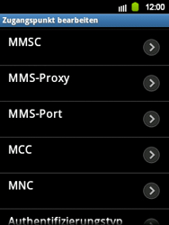 Samsung S5360 Galaxy Y - MMS - Manuelle Konfiguration - Schritt 9
