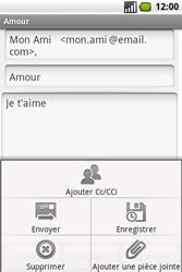 Samsung I7500 Galaxy - E-mail - envoyer un e-mail - Étape 9